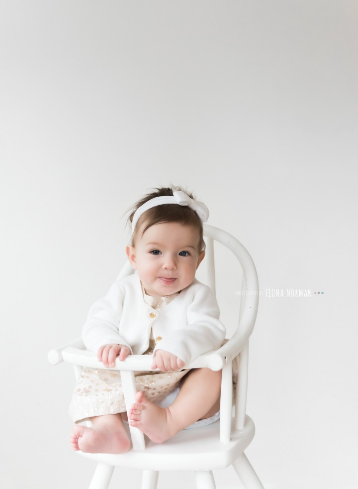 baby in a highchair