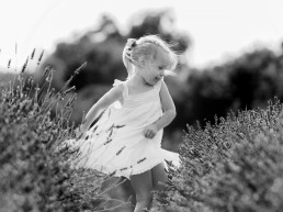 girl dancing in lavender