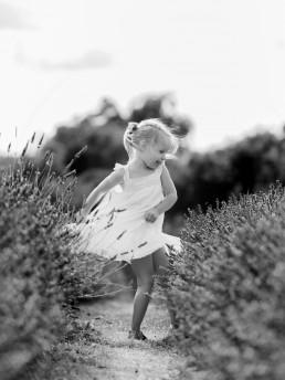 girl dancing in lavender