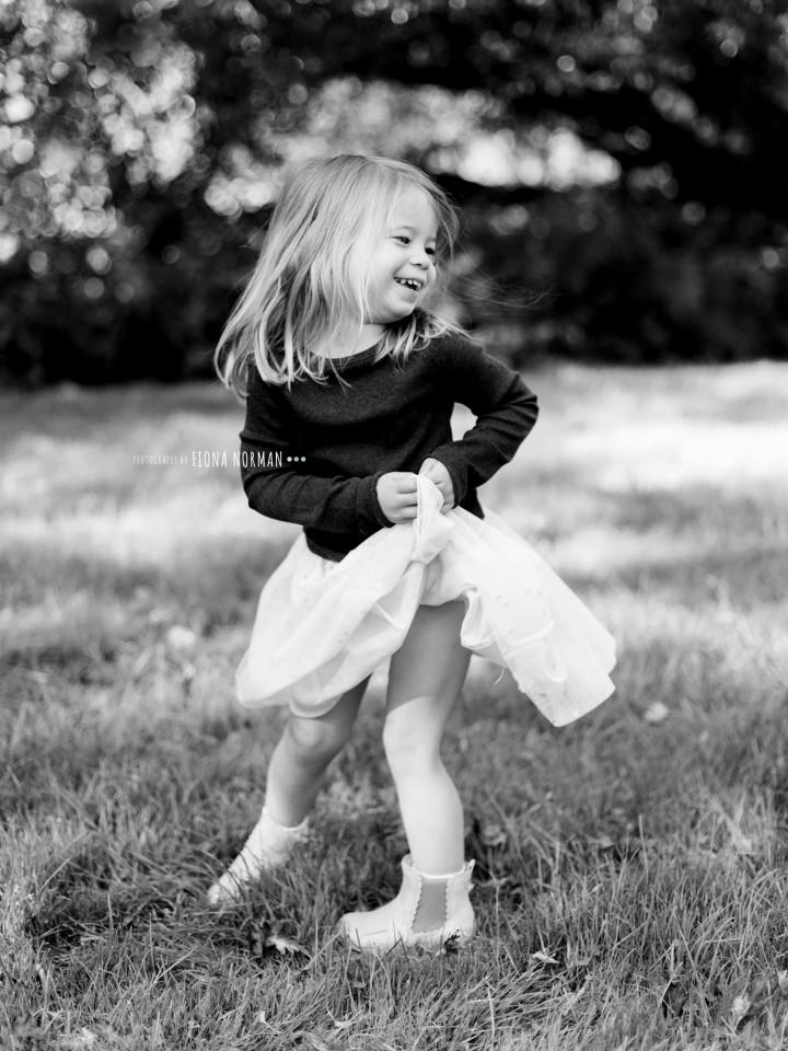 girl dancing and smiling