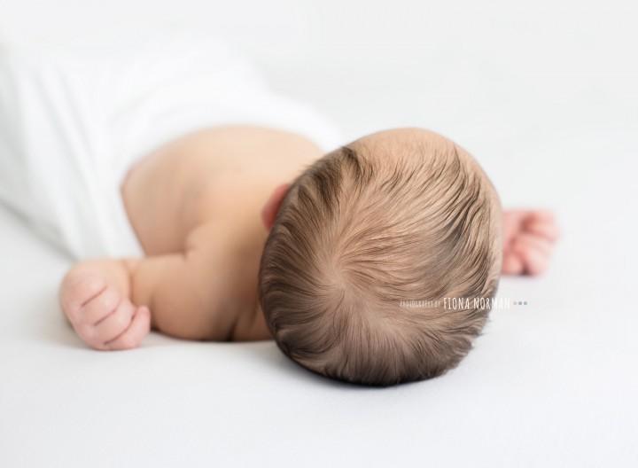 back of babies head