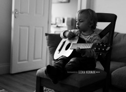 child on guitar