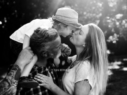 family kissing