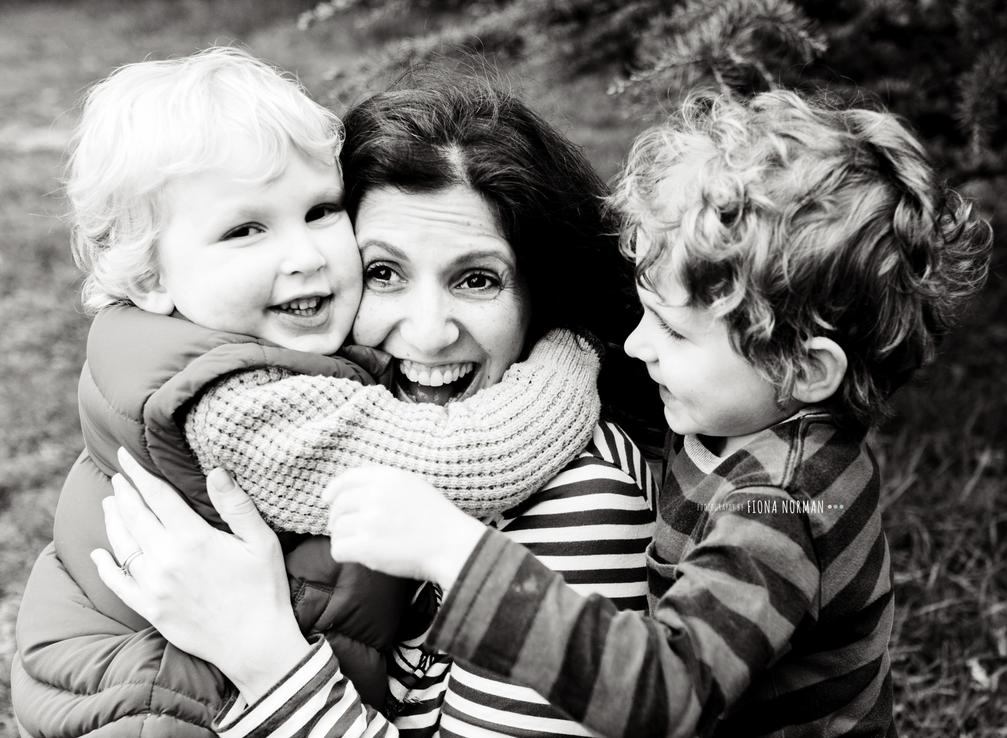 mother with boys